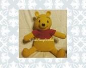 Pooh, Winnie The Pooh, Stuffed Pooh Bear, Stuffed Animal, Winnie the Pooh Nursery, Baby Shower, nursery decor, large stuffed animal, big