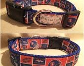 """Handmade Denver Football Fan 1"""" Adjustable Dog Collar"""