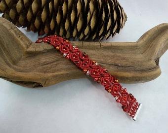 Royally Rich in Red Cuff Bracelet