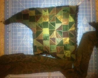 Mystik Patchwork fractal enchanted elvish pointed hood w/ scarf attached and secret pocket :)