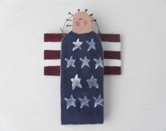 Lady liberty americana patriotic wall hanger