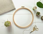 WOOD EMBROIDERY HOOP – 7 Inch frame for large to medium sized embroidery, cross stitch or quilting