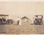 RESERVED Antique Snapshot Photo of Family Camping by Ocean in Scituate, Massachusetts 1919