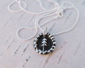 Little Tree Necklace in Fine Silver
