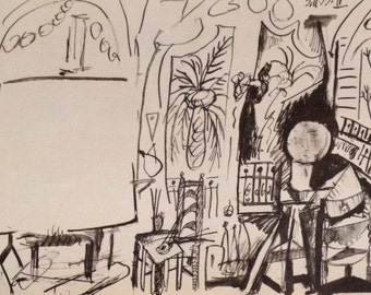 "Picasso's Sketchbook""Lithograph No4 dated 3/11/1955  L-E 1000"