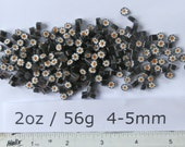 Millefiori 2oz Mixes: Orange and White Flowers on Black 4-5mm