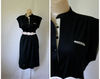 1970's Dress / Vintage Dress / Little Black Dress / LBD / Vintage 1970's Dress / Jody California S/M