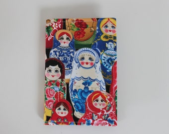 Russian doll  fabric notebook cover