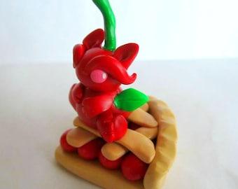 Cherry Pie Polymer Clay Dragon