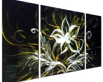 Modern Abstract Painting Metal Wall Art Sculpture Dancing Flower