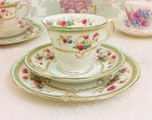 Vintage Hand Painted Tea Trio