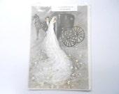 "Vintage Gordon Fraser Wedding Greeting Card Art By Francis Saint-Marc Original Package 10 1/2 ""X 7 1/4""  Beautiful Ephemera"
