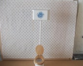 dolls house toilet in white with floral design dolls house bathroom item 1 12th scale