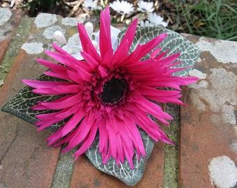 Cerise Pink Gerbera Corsage, Wedding, Prom or Event.
