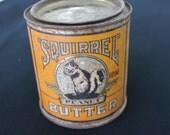 vintage Squirrel Brand Peanut Butter tin Canada Nut Company Ltd 27 oz