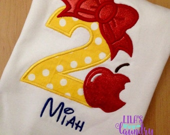 Snow White Inspired Embroidered Shirt