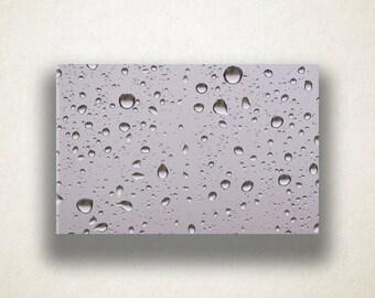 Raindrops on Glass Canvas Art, Raindrop Wall Art, Rain Canvas Print, Close Up Wall Art, Photograph, Canvas Print, Home Art, Wall Art Canvas