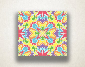 Abstract Symmetrical Design Canvas Art Print, Rainbow Wall Art, Symmetrical Canvas Print, Canvas Art, Canvas Print, Home Art, Wall Art