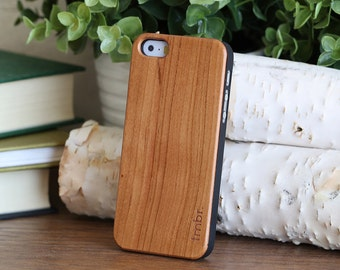 iPhone SE Cherry Wood Case, Quality Cherry Wood iPhone SE Cover - CBC5-SE