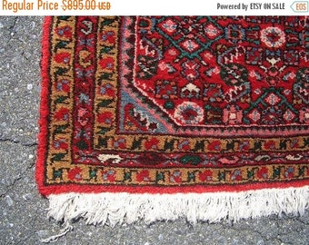 SUMMER CLEARANCE 1970s Hand-Knotted Hamadan Persian Rug Runner