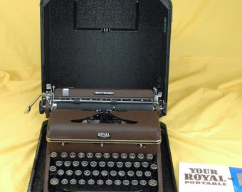 Rare Refurb 1939 Burgundy Hemingway Royal Portable Quiet Deluxe Typewriter Warr