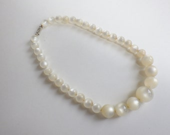 Vintage Lucite Moonglow Choker Necklace