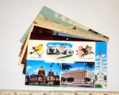 6 vintage IOWA postcards - unused lot - linen, white border, chrome 3 1/2 x 5 1/2