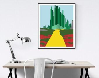 Emerald City Minimalist Poster