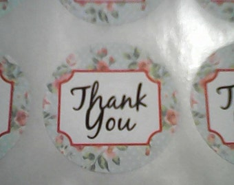 thank you stickers 35mm round