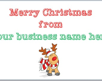 christmas business stickers