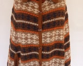 Hippie Cape 70's Poncho Boho Acrylic Stripe Knit Union Made OSFM Indie Wrap Capelet Shawl Fringe Hem Arm Slits