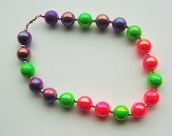 Elastic Beaded Necklace