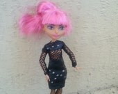 Ever After Outfit, Goth Doll Outfit, Skirt and Fishnet top