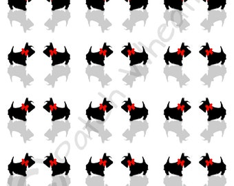 Scottie Dog  Luxury gift wrap 2 Sheets