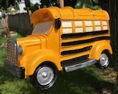 School Bus Birdhouse - Bus Driver, SchoolBus, Outside, Back Yard Decor, Decoration,  Father's Day, Dad, School, Teacher