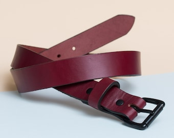 Leather Daily Belt | Oxblood