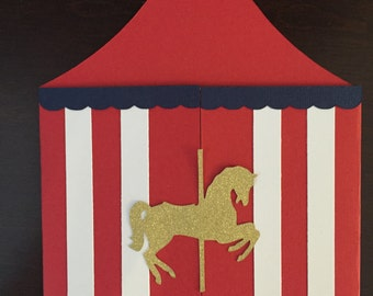 Circus Tent Birthday Invitation
