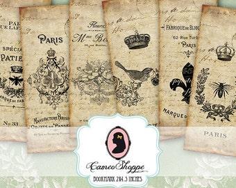 75% OFF SALE Digital Sheet SHABBY Old French digital Bookmark Digital Tags instant download