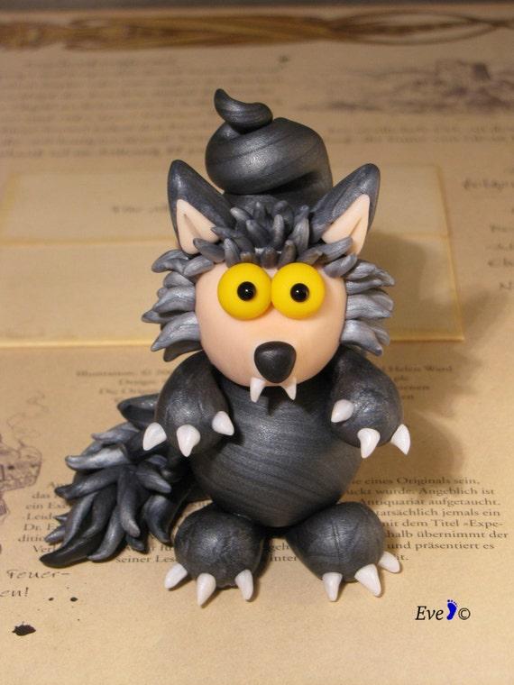 Miniature Handmade Werewolf Sculpture