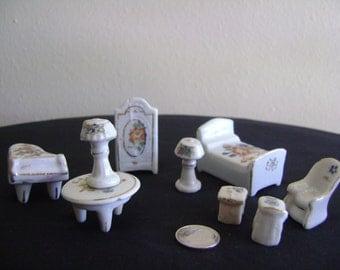 Dollhouse Furniture Minature Porcelain Made in Japan