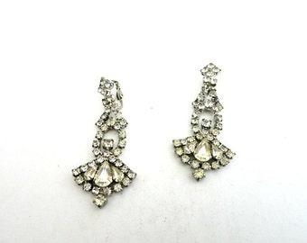 Rhinestone Chandelier Dangle Earrings