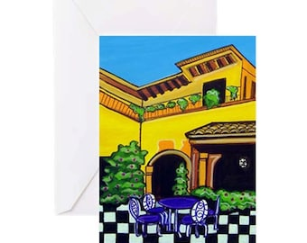 Villa #1 - 4 Greeting Cards By Artist A.V.Apostle