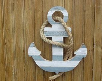 Small wooden anchor