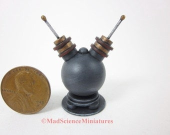 Dollhouse Miniature Mad Science Laboratory Equipment D229 1:12 Scale Model Spooky Weird Sci Fi Halloween Accessory Victorian Scientist Lair