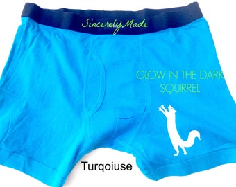Funny gifts for men - squirrel boxers - glow in the dark gifts -Gift Ideas for Men - Gifts for him - boyfriend gifts - Unique gifts for men