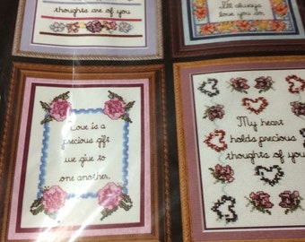 Cross Stitch Kit!! Set of 4, 5x7 Pictures!