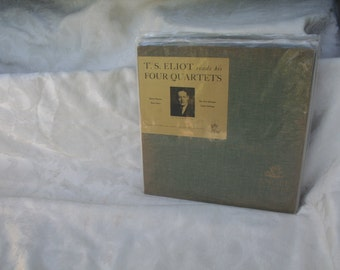 """Angel Records Library Series """"T.S. Eliot Reads his Four Quartets"""" ANGEL 45012"""