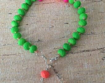 Neon arm candy bracelet