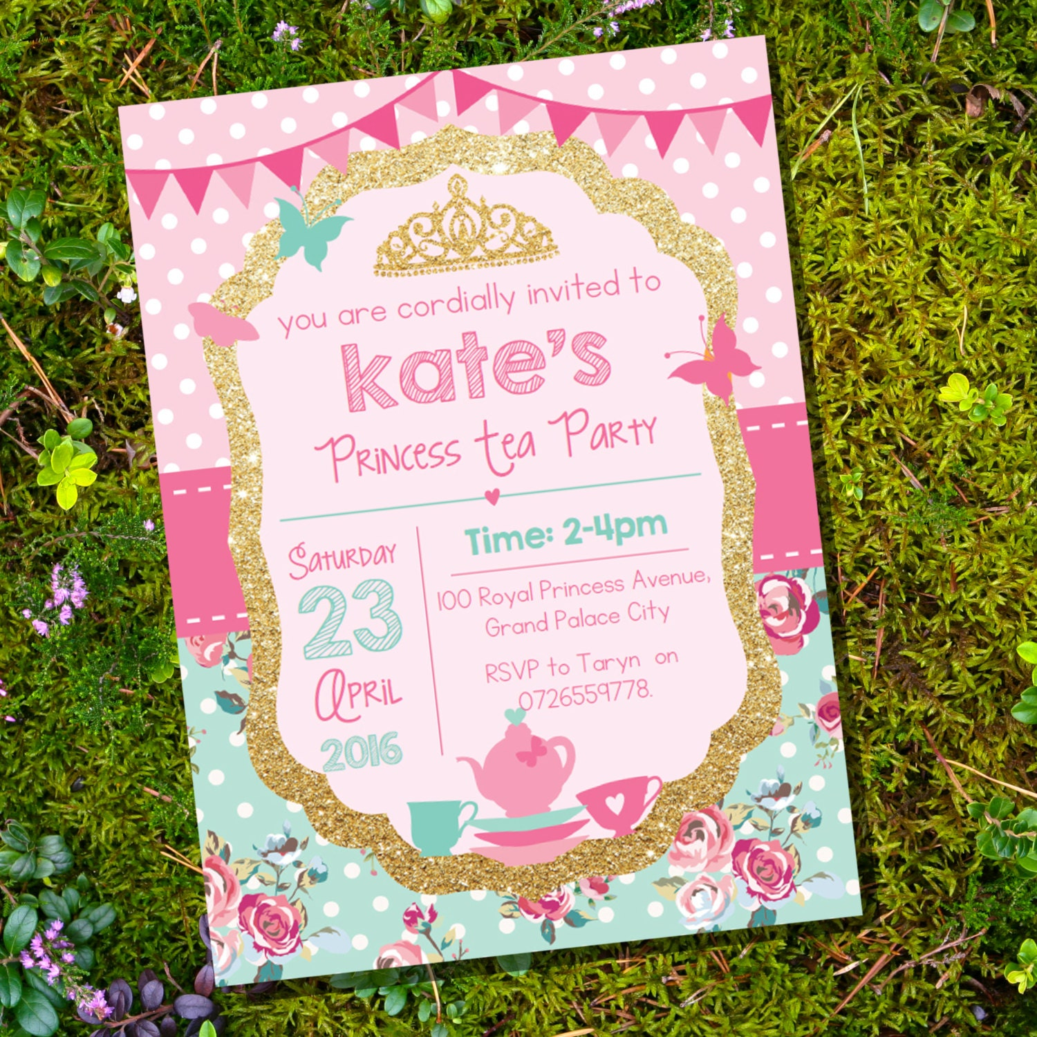 This is a photo of Trust Printable Tea Party Invitations