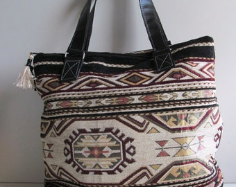 Canvas Bag, Ikat bag Kelim